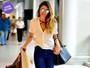 Look do dia: Rafa Brites usa bolsa de R$ 40 mil para embarcar em aeroporto