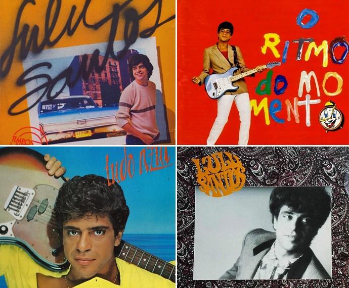 Capa dos quatro primeiros discos do cantor (Foto: Divulgação)
