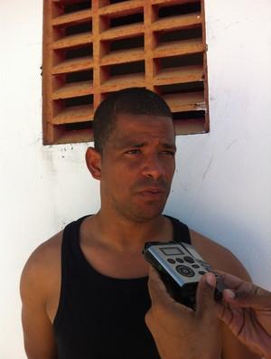 Júlio César, goleiro do CRB  (Foto: Henrique Pereira/GLOBOESPORTE.COM)