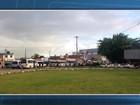 Protesto atrapalha entrada de carros no terminal do ferry-boat em Itaparica