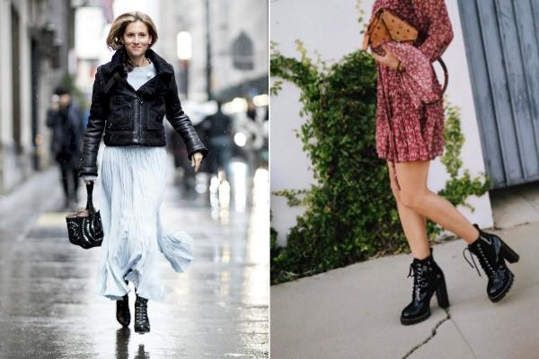 O coturno funciona com saias e vestidos soltos e leves (Foto: Imaxtree e Reprodução/Instagram Song of Style)