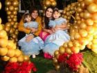 Leandro, do KLB, e Natália Guimarães fazem festão para as filhas