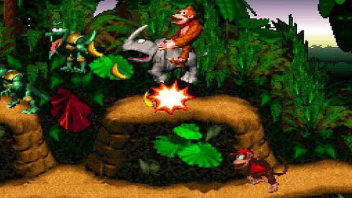 Com seus belos gráficos pré-renderizados Donkey Kong Country levou o Super Nintendo à vitória sobre o Mega Drive (Foto: Reprodução/Funny Malaysia)