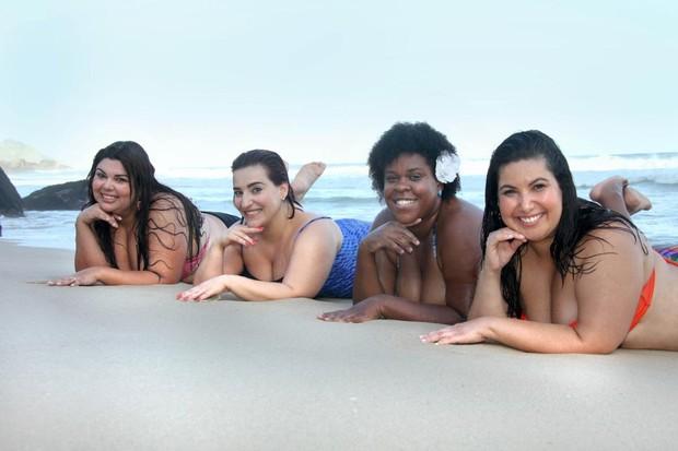 Fabiana Karla, Simone Gutierrez, Cacau Protásio e Mariana Xavier (Foto: Janderson Pires / Divulgação)