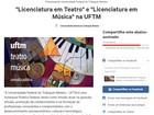 Petição propõe licenciaturas de teatro e música no ensino da UFTM-Uberaba