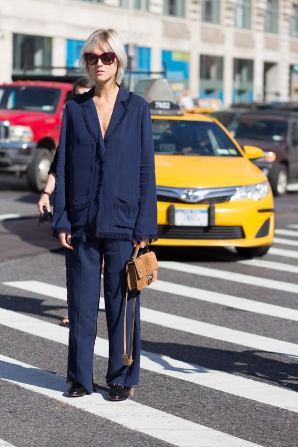 Street style em Nova York (Foto: Imaxtree)