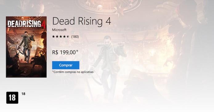 Dead Rising 4 está disponível em duas versões: Padrão e Deluxe (Foto: Reprodução/Victor Teixeira)