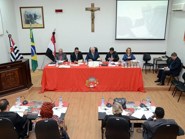 Vereadores se reuniram na noite desta segunda-feira (30) para discutir propostas (Foto: Maycon Morano/Câmara Municipal de Presidente Prudente)