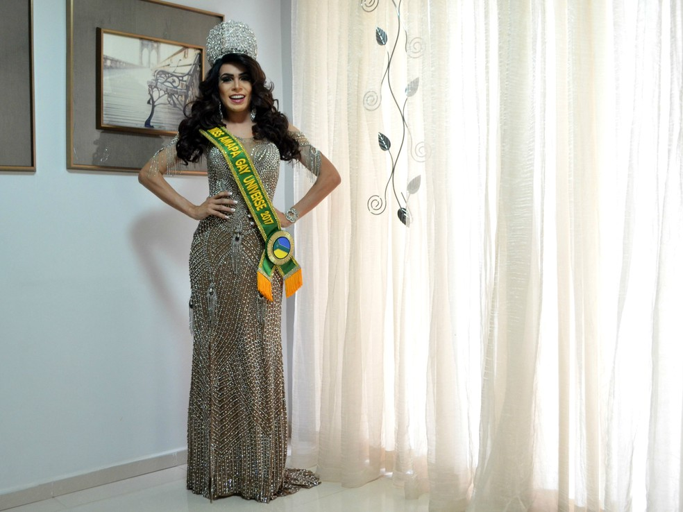 Miss Amapá Gay Universo 2017, Diego Santos, Amapá, Macapá, (Foto: Fabiana Figueiredo/G1)