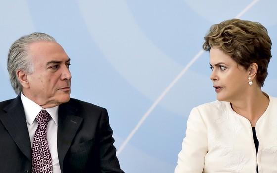 Dilma Rousseffe e Michel Temer (Foto: Ueslei Marcelino/Reuters)