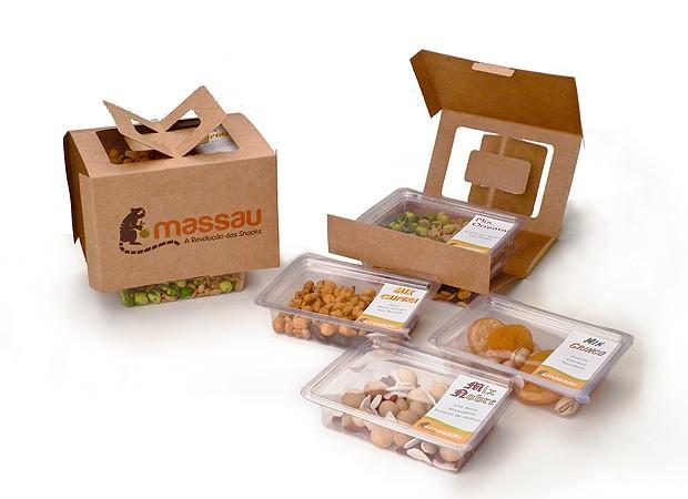 Caixas e snacks do Massau (Foto: Divulgação)