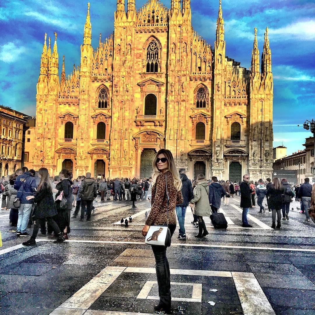 Grazi turistando em Milão (Foto: Reprodução/Instagram)