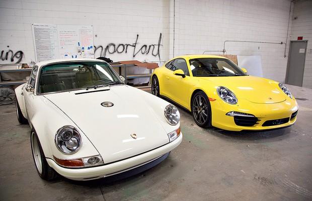 Porsche 911 Singer e 911 atual (Foto: Issac Hernandez)