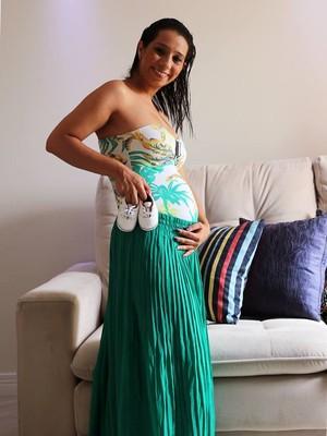 Ana Carolina espera a chegada de Felipe (Foto: Arquivo Pessoal)