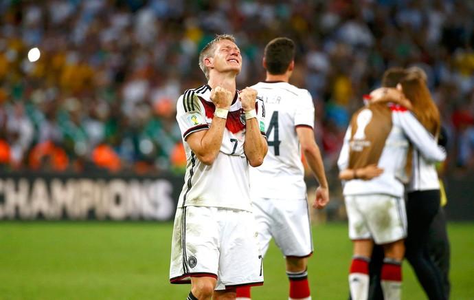 Bastian Schweinsteiger comemoração Alemanha Copa do Mundo (Foto: Reuters)