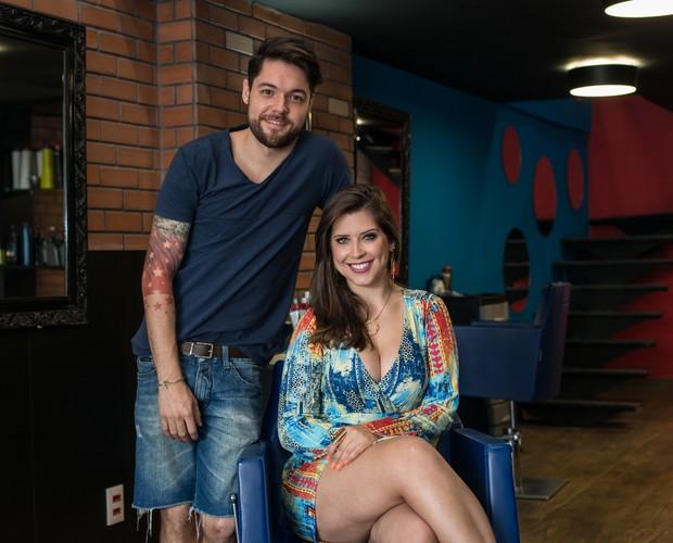Casal abriu salão no Recreio, no Rio: Em março agora melhorou o movimento (Foto: Camila Serejo / Gshow)