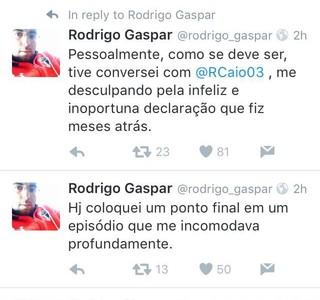 Rodrigo Gaspar São Paulo Post Twitter (Foto: Reprodução)