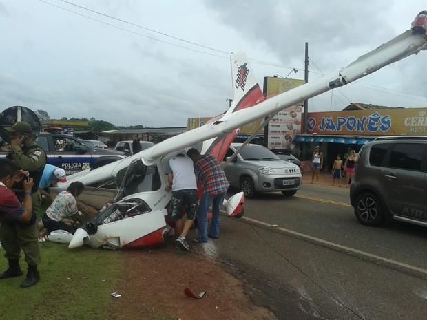 Avião Caiu Mosqueiro PRE (Foto: Raimundo Silva/Arquivo pessoaçl)