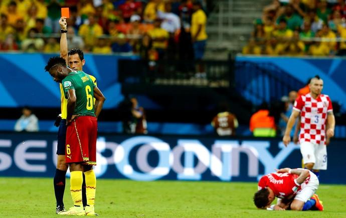 Song Cartão Vermelho Croácia x Camarões Arena Amazônia (Foto: Reuters)