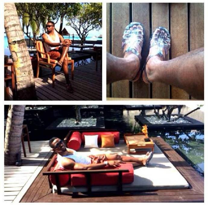 Samuel Eto'o relaxa em dia ensolarada  (Foto: Reprodução)