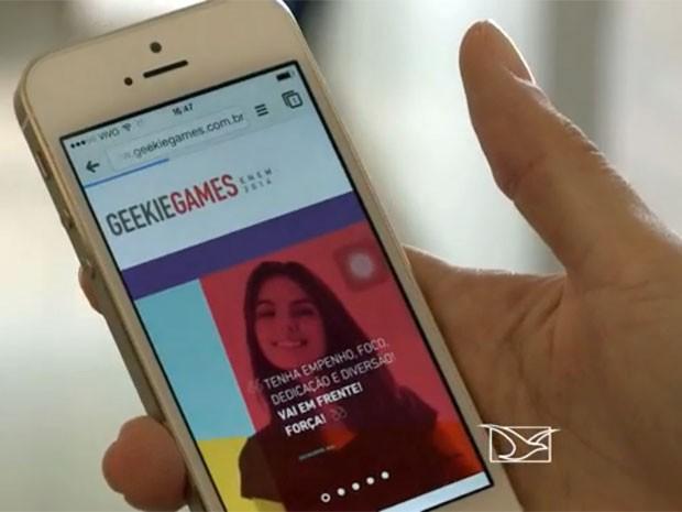 Simulado Geekie Games traz questões para treinar aluno para o Enem (Foto: TV Mirante/Reprodução)