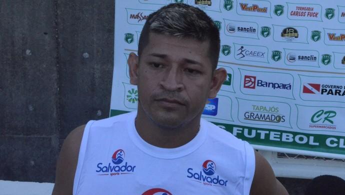 Mauryan, autor do gol que garantiu um ponto para o Tapajós no Parazão (Foto: Dominique Cavaleiro/ GloboEsporte.com)
