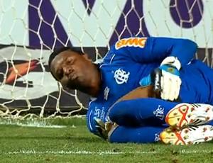 FRAME Felipe machucado jogo Flamengo (Foto: Reprodução)