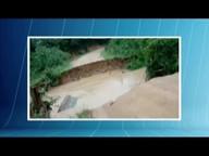 Chuva forte destrói ponte em Sabinópolis