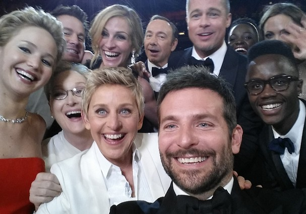 Selfie do Oscar (Foto: Getty Images)