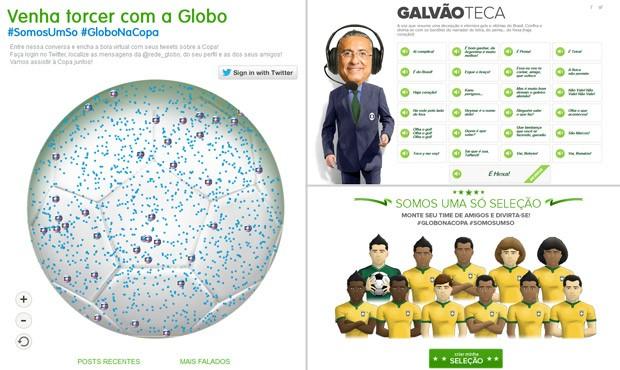 Divirta-se com os aplicativos que a Globo preparou para a Copa do Mundo (Foto: Reprodução)