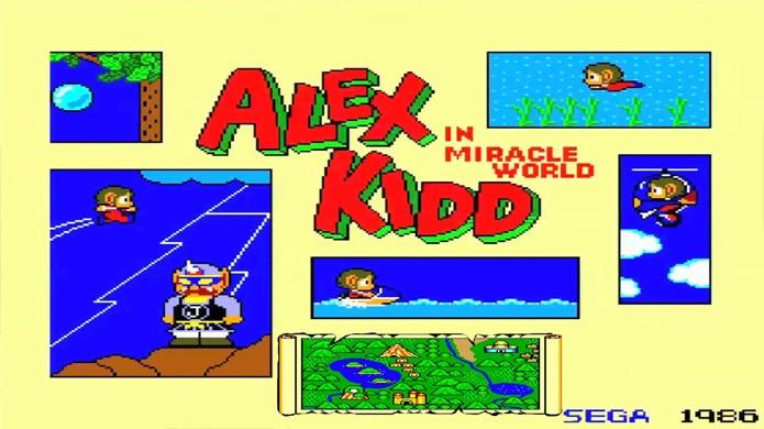 Logo na tela título Alex Kidd mostrava que podia fazer de tudo no Master System (Foto: Reprodução/YouTube)