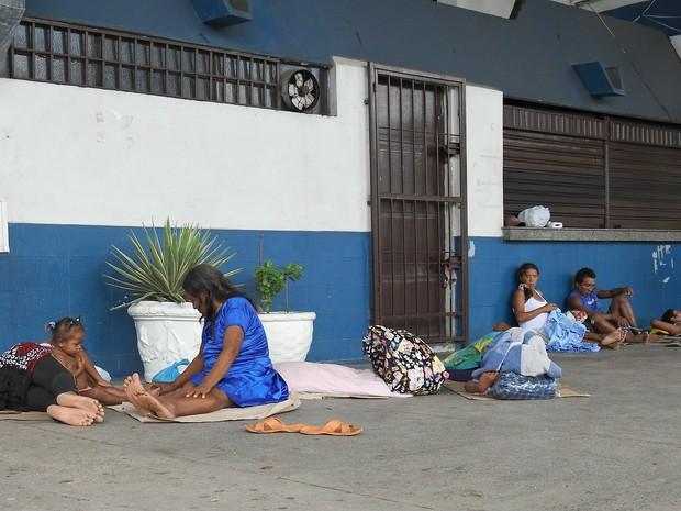 Venezuelanos completam uma semana abrigados em rodoviária de Manaus (Foto: Indiara Bessa/G1 AM)