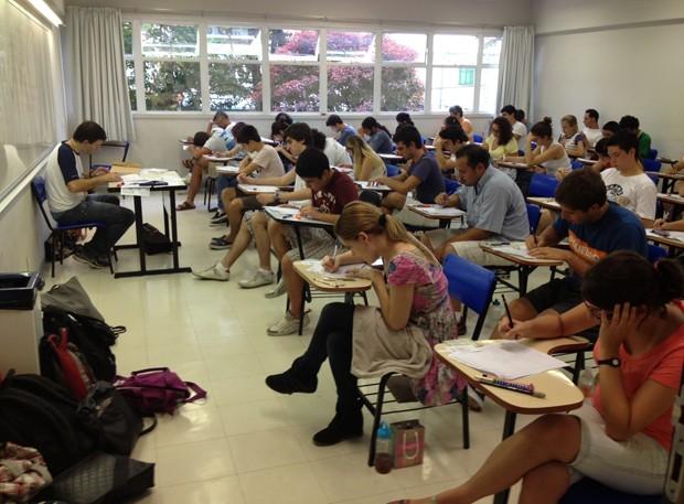 Candidatos fazem prova da segunda fase da Fuvest (Foto: Gabriela Gasparin/ G1)