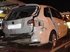 Motorista é preso após carro com 375 quilos de maconha capotar na BR-277