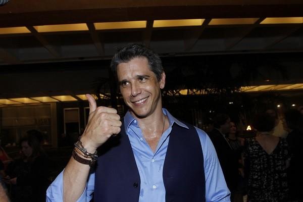 Marcio Garcia foi um dos contemplados com o Prêmio Nelson Rodrigues, no Teatro Fashion Mall (Foto: Marcello Sá Barretto/ Ag News)