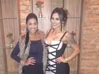 Encontro de ex-BBBs: Amanda Djehdian conhece Vanessa Mesquita