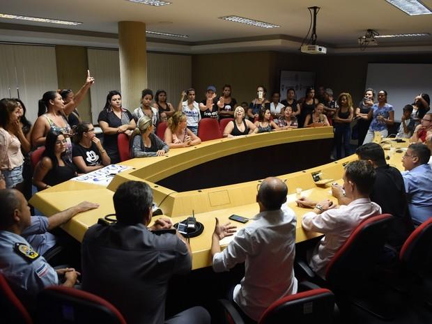 Mulheres disseram que protestos em frente a batalhões vão continuar (Foto: Divulgação / Sesp)