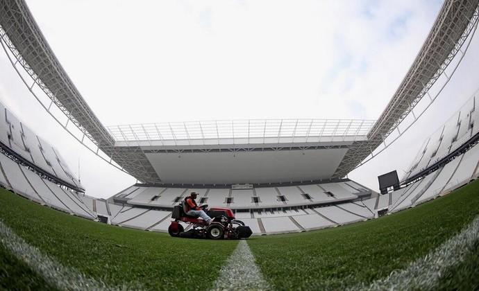 Arena Corinthians, campo (Foto: Reprodução/Twitter)