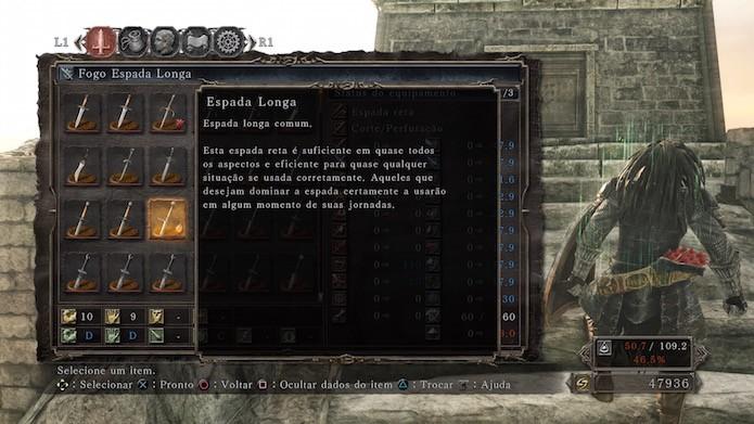 Dark Souls 2: Scholar of the First Sin: Fogo Espada Longa (Foto: Reprodução/Victor Teixeira)