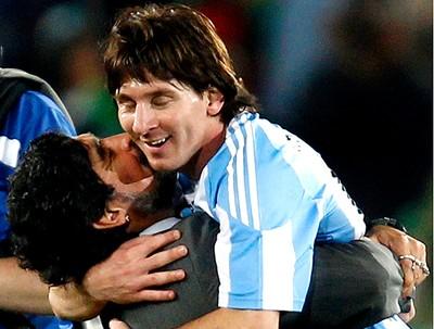 maradona messi argentina nigéria (Foto: Agência Reuters)