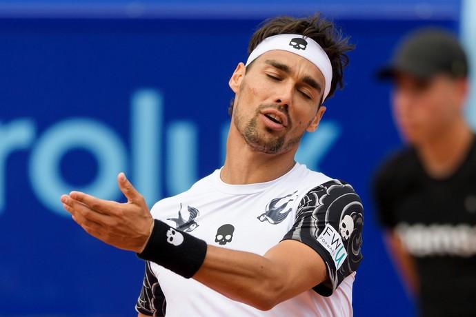 Fabio Fognini punido por xingamento no US Open (Foto: Fabrice COFFRINI / AFP)
