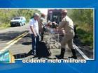 Três militares do Exército morrem após veículo cair em barranco em MS