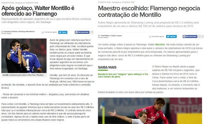 Montillo no Flamengo prints (Foto: Reprodução)