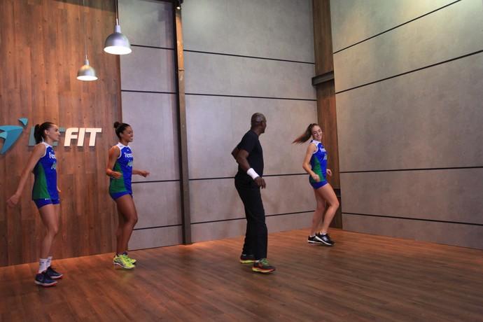 Jogadoras Rio de Janeiro aula de dança vôlei (Foto: Pedro Veríssimo)