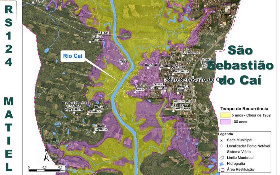 Projeto contra enchentes em São Sebastião do Caí (Foto: Reprodução/Metroplan)