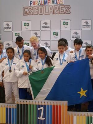 Paratletas de MS conquistam medalhas nas Paralimpíadas Escolares (Foto: Divulgação/Fundesporte)