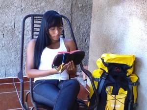 Shara Galvão se prepara todos os dias para a JMJ (Foto: Júlia Galvão da Silva/Arquivo Pessoal)