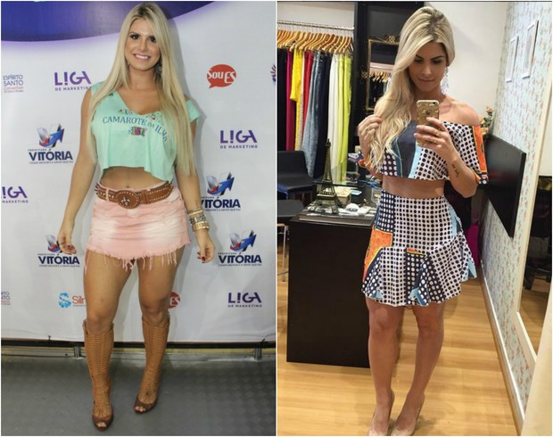Julia Nunes antes e depois de perder sete quilos (Foto: Amandio Santos/Agência Flash Glamour/Instagram)