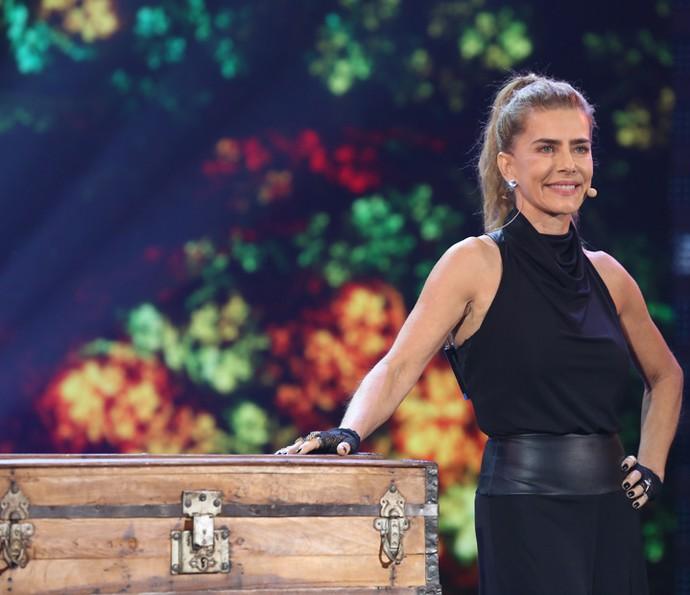 Maitê levou seu baú de mágica para o palco do 'Domingão' (Foto: TV Globo)