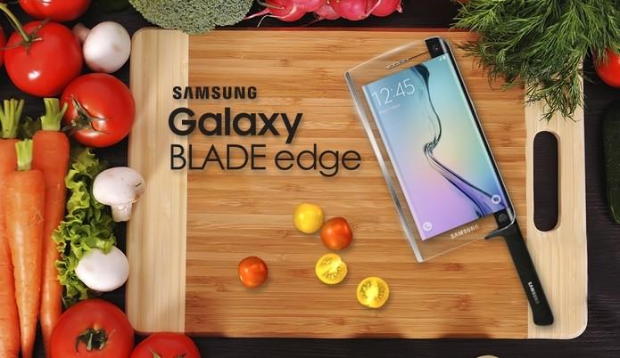 Galaxy BLADE edge, faca de mentira anunciada no 1° de abril (Foto: Reprodução/Samsung Tomorrow)